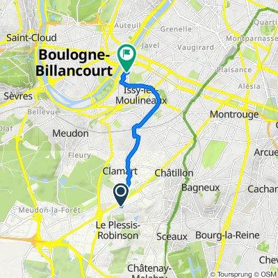 De 37 Rue du Midi, Clamart à 24 Boulevard Gallieni, Issy-les-Moulineaux