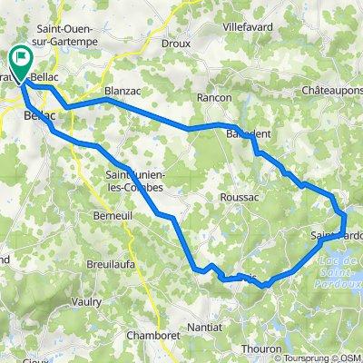 De Route de la Ribière 5, Peyrat-de-Bellac à Rue de la Colline 21, Peyrat-de-Bellac
