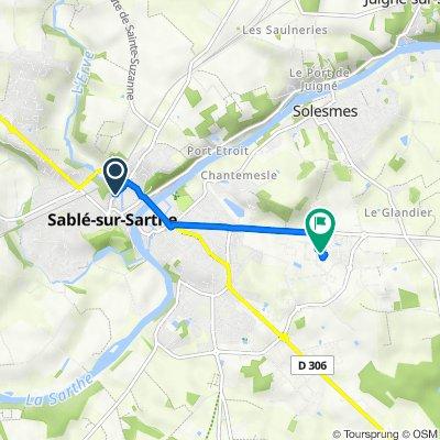 De 29 Rue Paul Doumer, Sablé-sur-Sarthe à 5–11 Rue de la Tuilerie, Solesmes