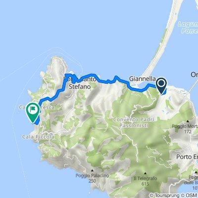 Route von Unnamed Road, Monte Argentario