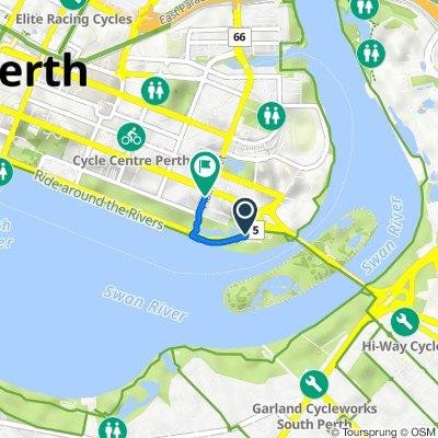 Riverside Drive, East Perth to Plain Street, East Perth