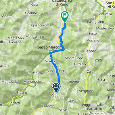Route von Via della Stazione 7, Vado