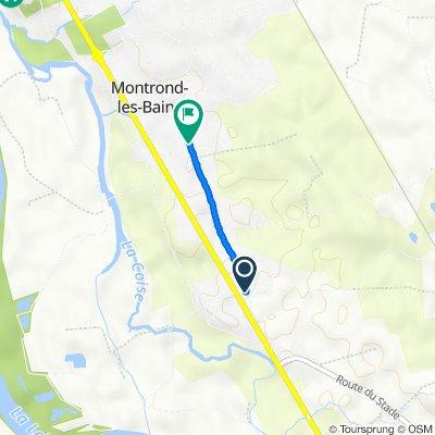 De 1701 Route de Saint-Étienne, Montrond-les-Bains à 835 Chemin de l'Étrat, Montrond-les-Bains
