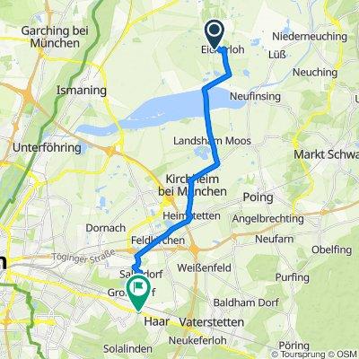 Großsenderstraße 25, Finsing nach Keferloher Straße 30, Haar