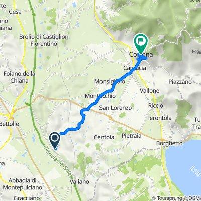 Case Sparse Chianacce 117, Cortona naar Piazza Signorelli 27, Cortona