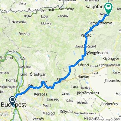 Route from Szent Sebestyén köz 2., Budapest