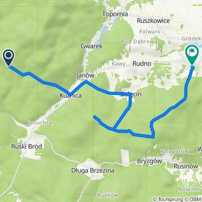 """Route #03: (R-14) rez. """"Puszcza u Źródeł Radomki (R-7) - Borkowice (R-12)"""