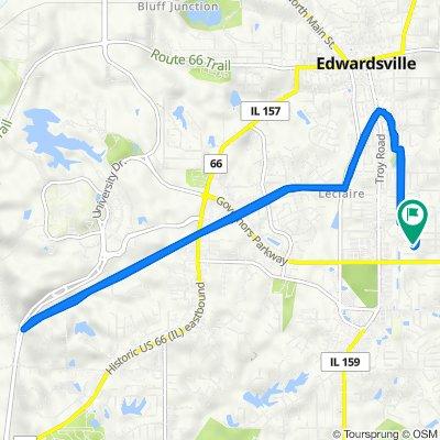 627 Jaime Lynn Ct, Edwardsville to 627 Jaime Lynn Ct, Edwardsville
