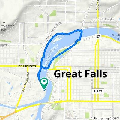 Bay Dr, Great Falls to Bay Dr, Great Falls