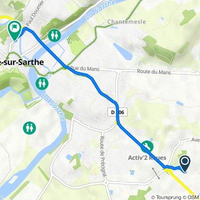 Itinéraire vers 27 Rue Paul Doumer, Sablé-sur-Sarthe