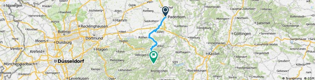 paderborn to winterberg