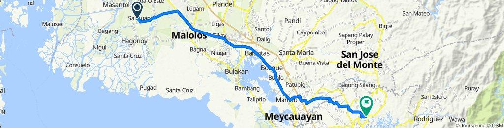 Unnamed Road, Hagonoy to Unnamed Road, Quezon City