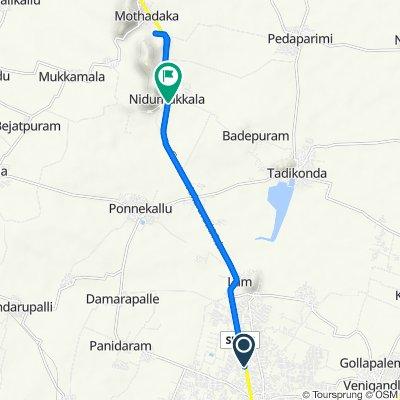 Amaravathi Road 246, Guntur to Nidumukkala