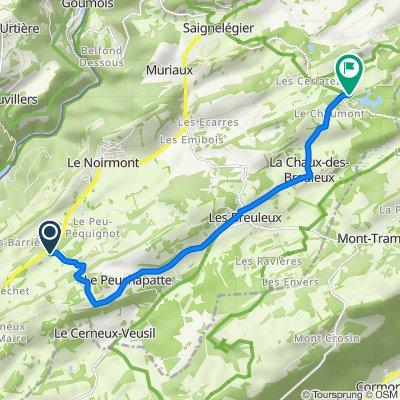 Le Creux des Biches, Le Noirmont nach La Petite Theurre 7–15, Saignelégier