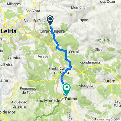 Route from Rua das Indústrias 72, Caranguejeira