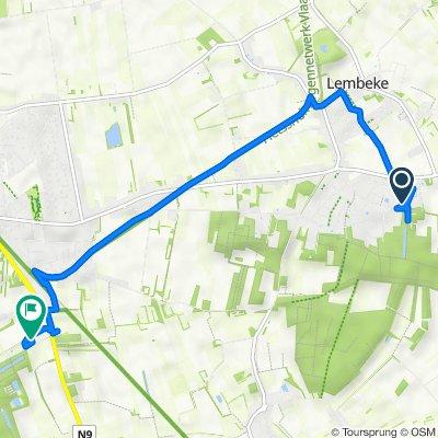 Itinéraire à partir de Ledestraat 62, Kaprijke
