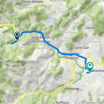 Itinéraire vers 740 Route de Lyon, Davézieux