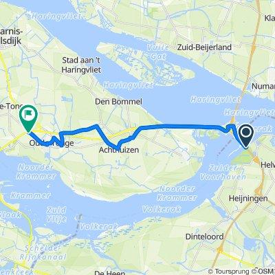 Hellegatsweg 14, Willemstad nach Langeweg 35, Oude-Tonge