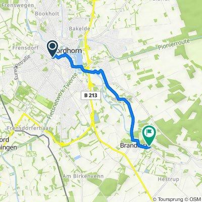 Van-Delden-Straße 5, Nordhorn nach Zur Wacholderheide 6, Nordhorn