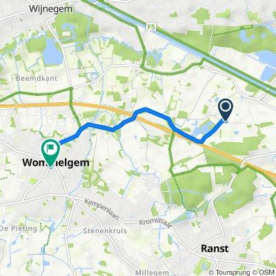 Hogenaardseweg 5, Ranst naar Sint-Damiaanstraat 17, Wommelgem