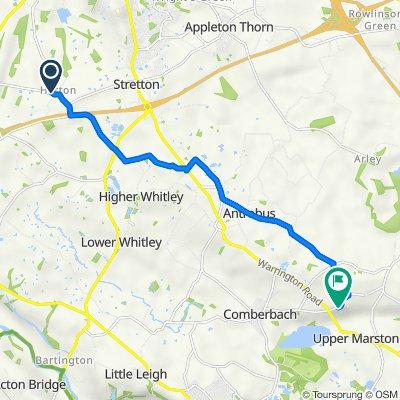 Hatton House, Hatton Lane, Warrington to 24 High St, Northwich