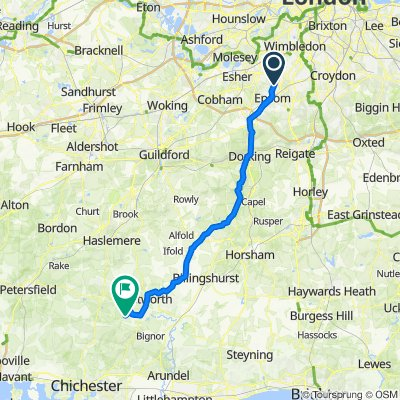 Green Lanes, West Ewell, Epsom to Graffham Road, Graffham, Petworth