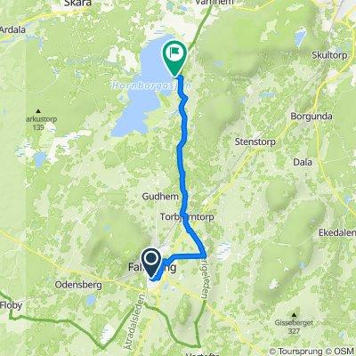 Stora torget 9, Falköping to Hornborgasjön 1–2, Broddetorp