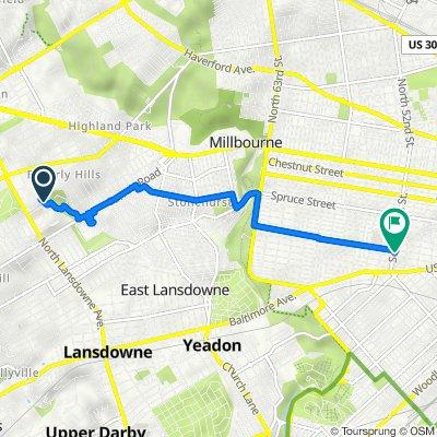 North Lansdowne Avenue 501, Drexel Hill to South 52nd Street 603, Philadelphia