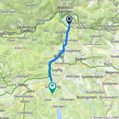 Route von Kirchweg 1, Klingnau