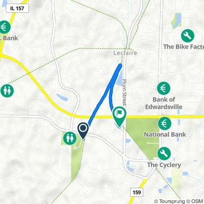 Route to Madison County Transit Goshen Trail, Edwardsville