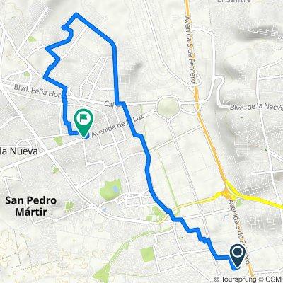 De Fray Martin de Porres 107, Santiago de Querétaro a Calle Tepehuas 101, Santiago de Querétaro