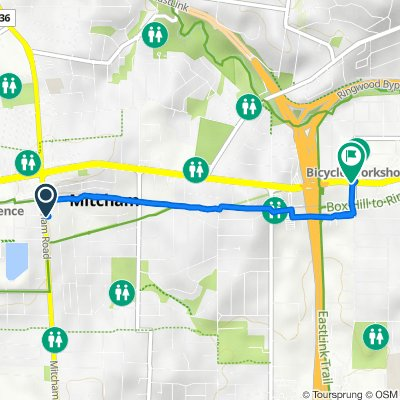 379 Mitcham Road, Mitcham to 55–57 Maroondah Highway, Ringwood