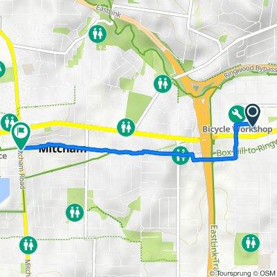 59 Maroondah Highway, Ringwood to 367 Mitcham Road, Mitcham
