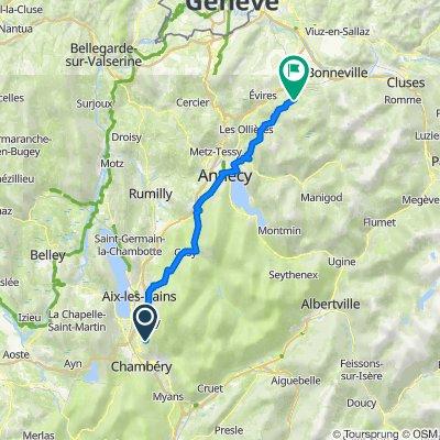 De Route des Sartos 521, Sonnaz à Chemin de la Chapelle 383, La Roche-sur-Foron