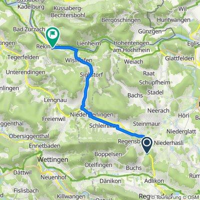 Wehntalerstrasse, Dielsdorf nach Nurrenweg, Rekingen AG