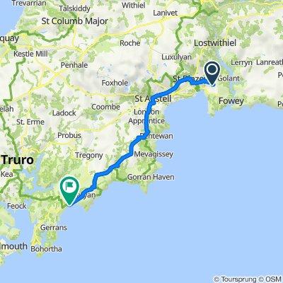 Route to Rocky Lane, Ruan High Lanes, Truro