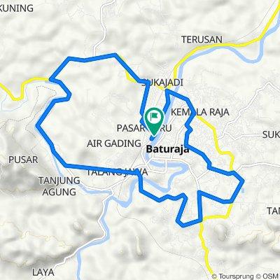 Jalan Doktor Sutomo 223, Kecamatan Baturaja Timur to Jalan Doktor Sutomo 155, Kecamatan Baturaja Timur
