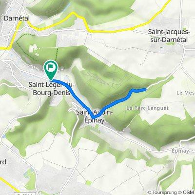 De 2 Rue de l'Église, Saint-Léger-du-Bourg-Denis à 14 Route de Lyons, Saint-Léger-du-Bourg-Denis