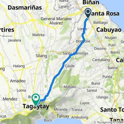 South Luzon Expressway, Biñan to Silang Junction South, Tagaytay