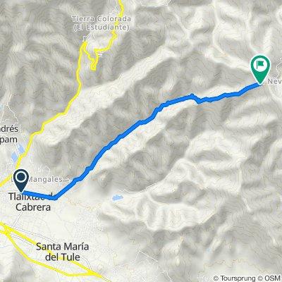 Ruta desde Callejón San Antonio 7–8, Tlalixtac de Cabrera