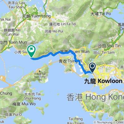 深旺道 shammongrd, 香港 to 青山公路-大榄段, 香港