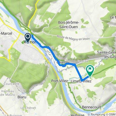 De 4–16 Avenue Pierre Mendès France, Vernon à 62bis Route de la Roche, Limetz-Villez