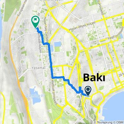 От Bunyad Sardarov 3, Baku до Hamidov Street, Bakı