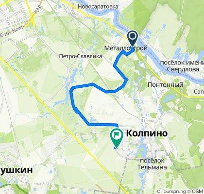 От Плановая улица 26, Санкт-Петербург до улица Металлургов 5, Санкт-Петербург