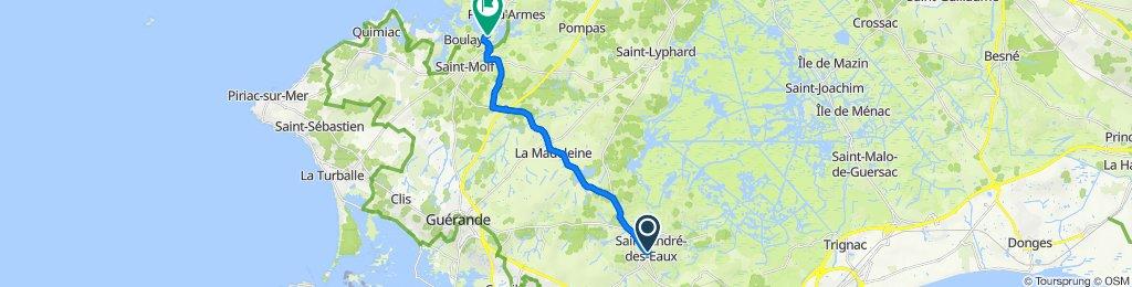 De Place de l'Église 23, Saint-André-des-Eaux à Pend Hue 13, Saint-Molf