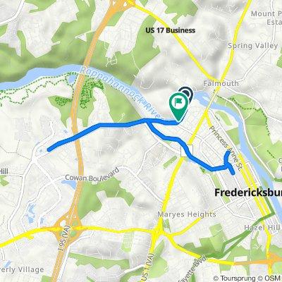 400–402 Riverside Dr, Fredericksburg to 472–496 Riverside Dr, Fredericksburg