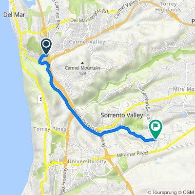 Caminito Cedros 2783, Del Mar to Production Avenue 8860, San Diego
