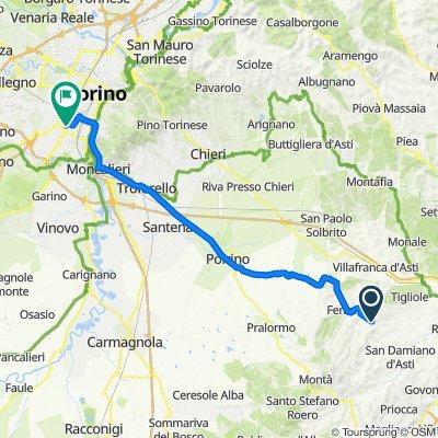 Da Frazione San Pietro, San Damiano d'Asti a Via Felice Briccarello 13, Torino