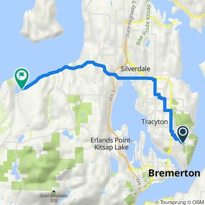 2317 NE Franklin St, Bremerton to 15376 Seabeck Hwy NW, Seabeck