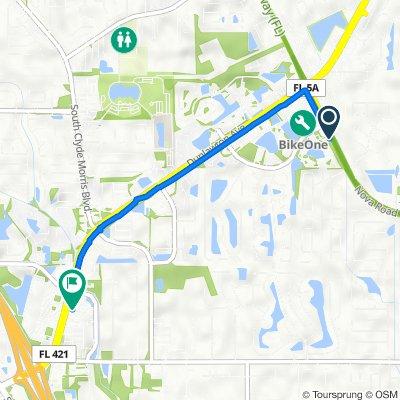 3880 S Nova Rd, Port Orange to 1748 Dunlawton Ave, Port Orange